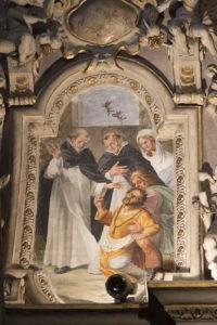 Immagini dei restauri della cappella della Madonna del Santo Rosario